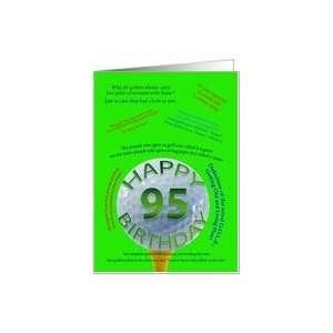 95th birthday golf jokes Card: Toys & Games