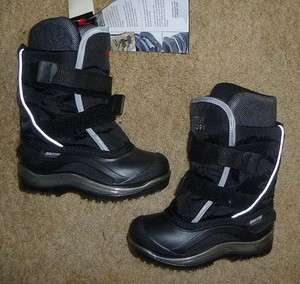 BAFFIN Kids Packer Boots, Black, Size 2, Rated  40°C/ 40°F