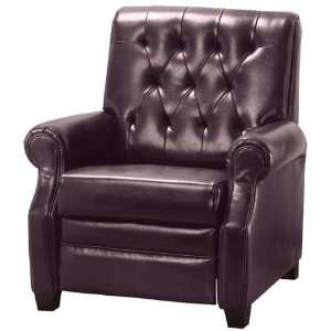 Dunkirk Tufted Reclining Chair Recliner Burgundy