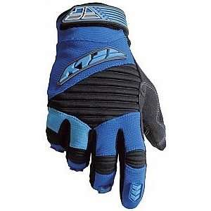 Fly Racing 303 Race Gloves, Blue/Black, Youth XS