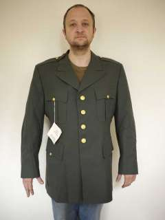 Vintage US ARMY Enlisted Military WOOL Jacket Tunic Dress COAT Uniform