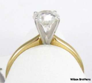 1ct Genuine Diamond Solitaire Engagement   14k Solid Gold Wedding RING