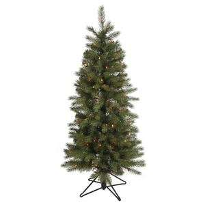 Albany Spruce Slim 200 Multi Color Lights Christmas Tree (A114457