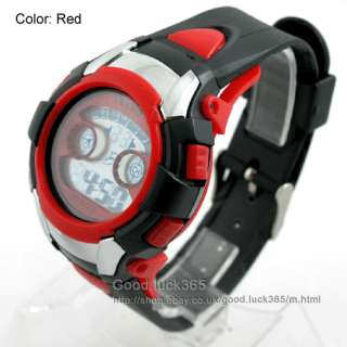 Digits DualTime 30M Diving Sport Wrist Watch RED #220