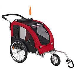 Large Red Comfy Dog Bike Trailer/ Stroller Kit
