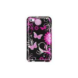 Apple iPod Touch 4th Generation Pink Butterfly Designer Crystal Case