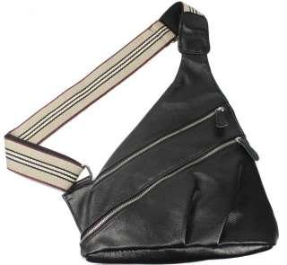 Men's Top Leather Shoulder Sling Bags Backpack Case Messenger Bag