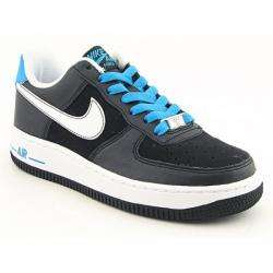 Nike Girls Air Force 1 Black/ White/ Orion Blue Basketball Shoes
