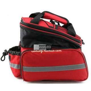 Bicycle Bag Bike rear seat Merida bag pannier Red For Women With Rain