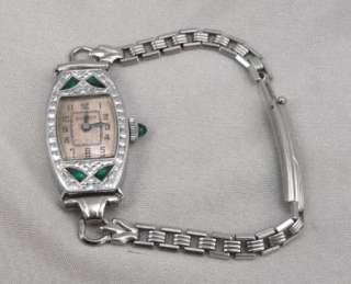 Vintage ART DECO BULOVA LADIES Wristwatch Wrist WATCH Rhodium Plated