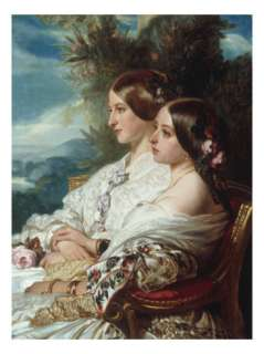 Queen Victoria and Victoire, Duchess de Nemours Giclee Print by Franz
