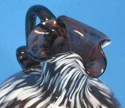 Antique Victorian Hand Blown Nailsea Art Glass Vase