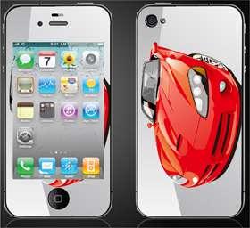 Iphone 4 4g Skin Sticker Cover BMW