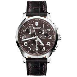 Swiss Army Mens Alliance Chrono Brown Dial Leather Strap