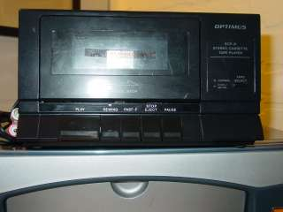 REALISTIC OPTIMUS SCP 31 STEREO CASSETTE TAPE PLAYER,