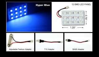 BLUE 12 SMD DOME MAP INTERIOR LED LIGHTS