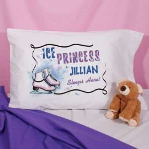 Personalized Ice Skating Pillowcase: Home & Kitchen
