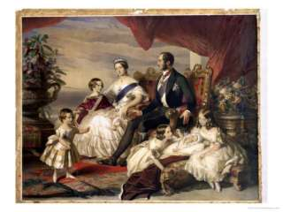 Queen Victoria and Prince Albert with Five of the Their Children, 1846
