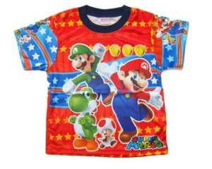 D#1 Super Mario Boys Kids T  Shirt Age 1 3 Size 1