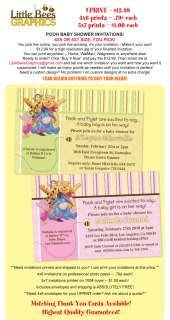 Winnie the Pooh Custom Baby Shower Invitations   UPRINT