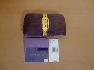 RALPH LAUREN COLLECTION Crocodile Leather Clutch Purse Bag NWT $4000