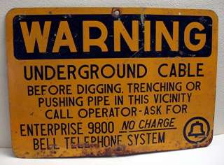 Old Bell Logo Telephone System Hvy Metal Warn Sign #4