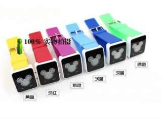 Fashion Binary 29 LED Light Red Blue Unisex Watch Mickey Mouse style