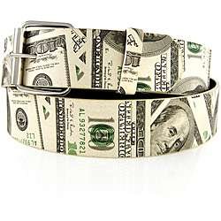 Iced Out Gear Mens Hundred Dollar Bill Belt  Overstock