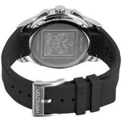 Hamilton Mens Jazzmaster Seaview Rubber Strap Chronograph Watch