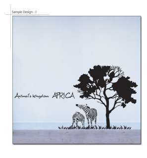 AFRICA Big Size Wall Sticker Vinyl Art Decal ZEBRA TREE