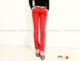 Women Fashion Slim Harem Pants Trousers Overalls With Belt 4 Colors