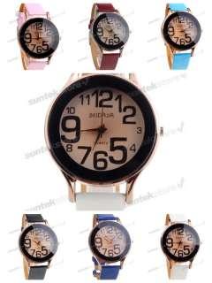 Fashion Lady Sport Quartz synthetic leather Wrist Watch