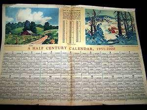 1950 2000 HALF CENTURY CALENDAR Chicago Tribune RARE