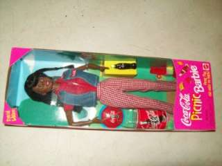 Coca Cola Picnic Barbie Doll 1997 New NRFB African American