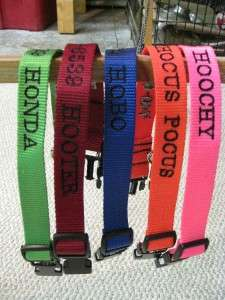 Dog ID Collar Embroidered Personalized Design #7