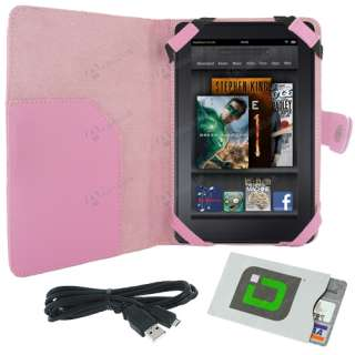 Folio Carry Case Cover w/ Charging USB Cable Cord for  Kindle