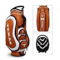 Golf Texas Longhorns 14 Way Golf Cart Bag Burnt Orange/White