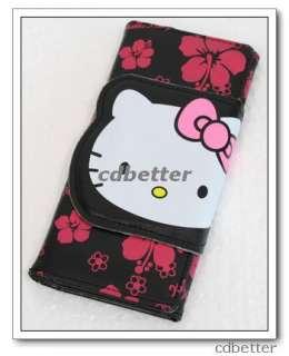 Hello Kitty Buckle Long Black Clutch Wallet Purse Women