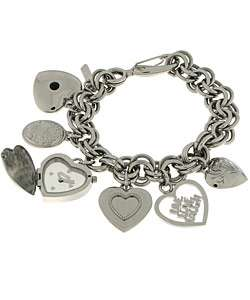 Moschino Live. Love. Laugh. Heart Charms Watch