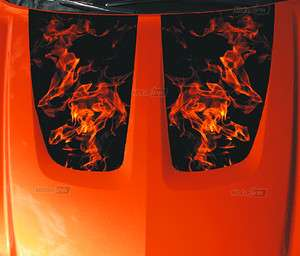 Dodge CHARGER Flaming Hood Decal Flame Graphics Stripes 2012 motorINK