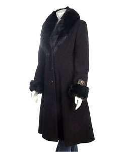 Marvin Richards Cashmere Blend Fox Fur Coat