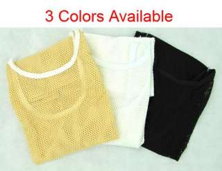 Sexy Sleeveless Shirt Vest Tank Tops T shirt 3Colors+ XS/S/M/L