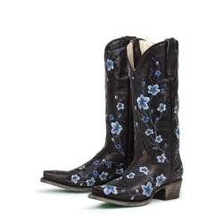 Lane Boots Womens Black/ Blue Sakura Cowboy Boots