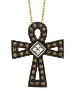 Encore by Le Vian 14k Gold Diamond Cross Necklace  Overstock
