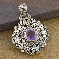 Sterling Silver Cawi Amethyst Pendant (Indonesia)