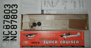 SIG 1 Scale Piper Super Cruiser Balsa Model Airplane Kit 36 Span