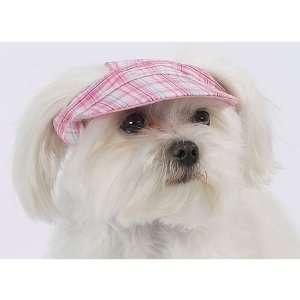 Dog Clothing Apparel Plaid Visor Hat Large Pink Kitchen