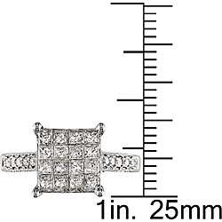 14k Gold 1ct TDW Princess cut Diamond Ring (H I J, I1 I2)
