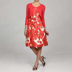 Jessica Howard Womens Floral Party Dress with Sweater  Overstock