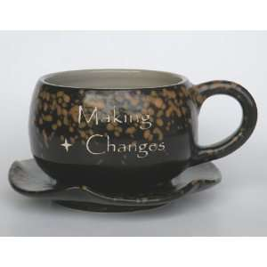Coffee Mug,Coffee Cup, Making Changes 100% Handcrafted Pottery Coffee